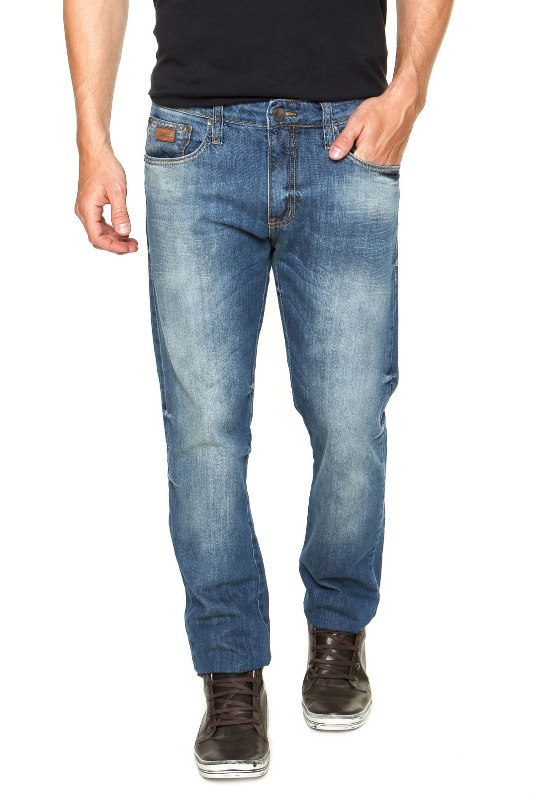 Calça Jeans Colcci John Skinny Pesponto Azul - Marca Colcci  b0ea4df9ca2