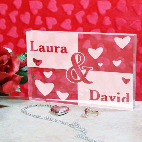 GiftsForYouNow Engraved Anniversary Heart Clock Keepsake