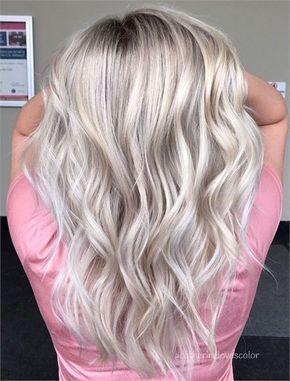 Blond Gesträhntes Haar