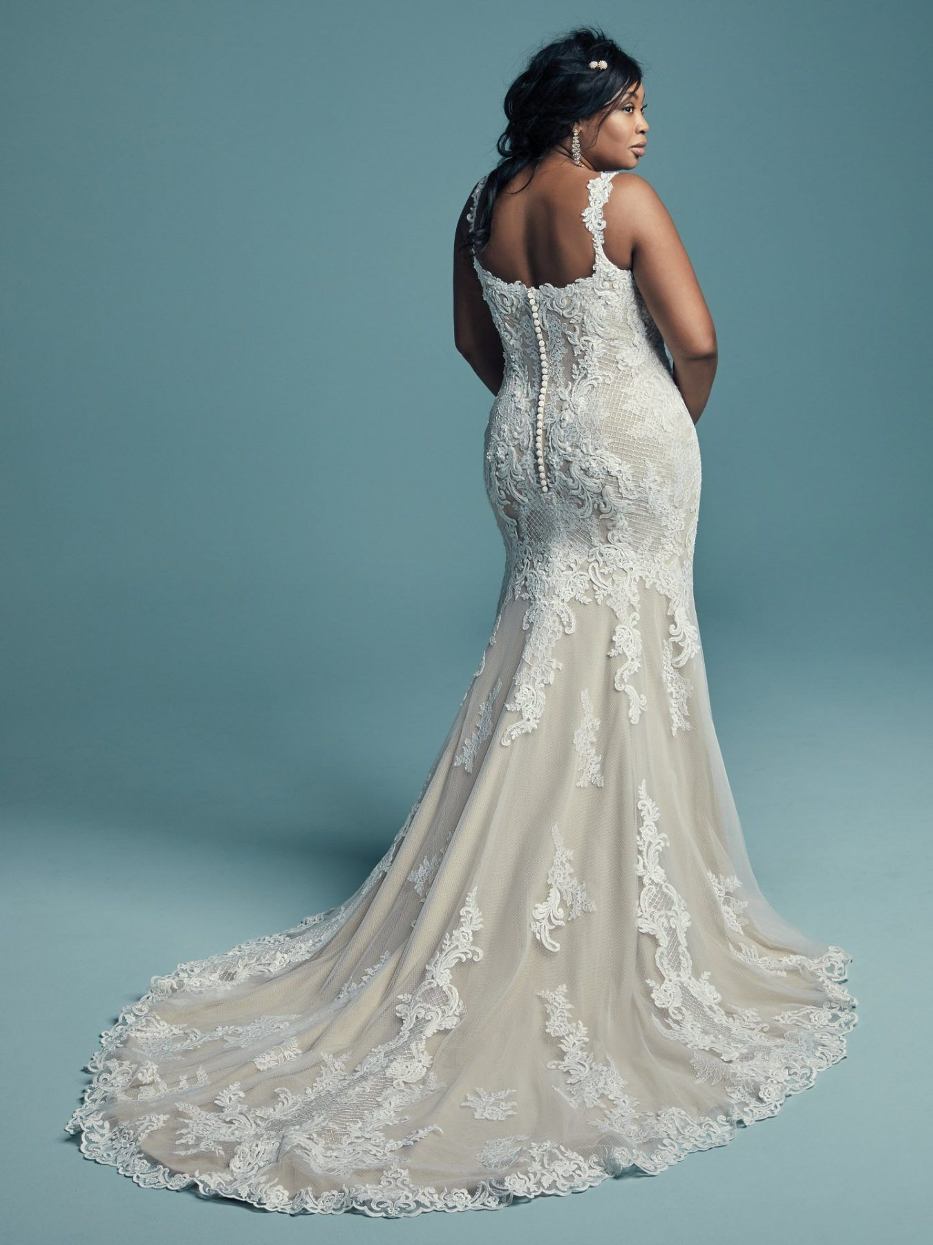 Lace Strapped Sweetheart Neckline Fit And Flare Wedding Dress