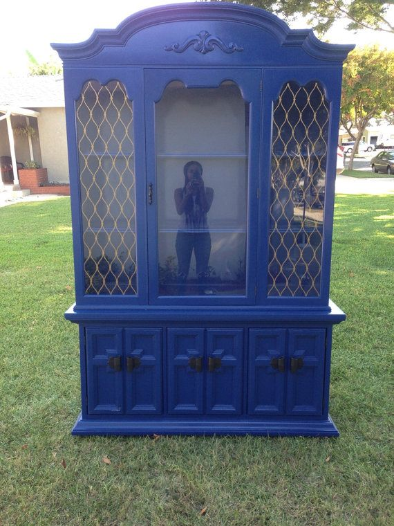 Royal Blue Vintage Hutch FleaPop Buy And Sell Home Decor Furniture Antiques