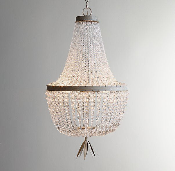 Dauphine Crystal Empire Chandelier Aged Metal