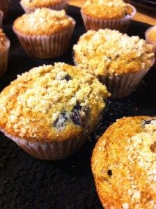 Blueberry muffins made easy! This recipe uses cake mix, very simple to make lots of muffins.