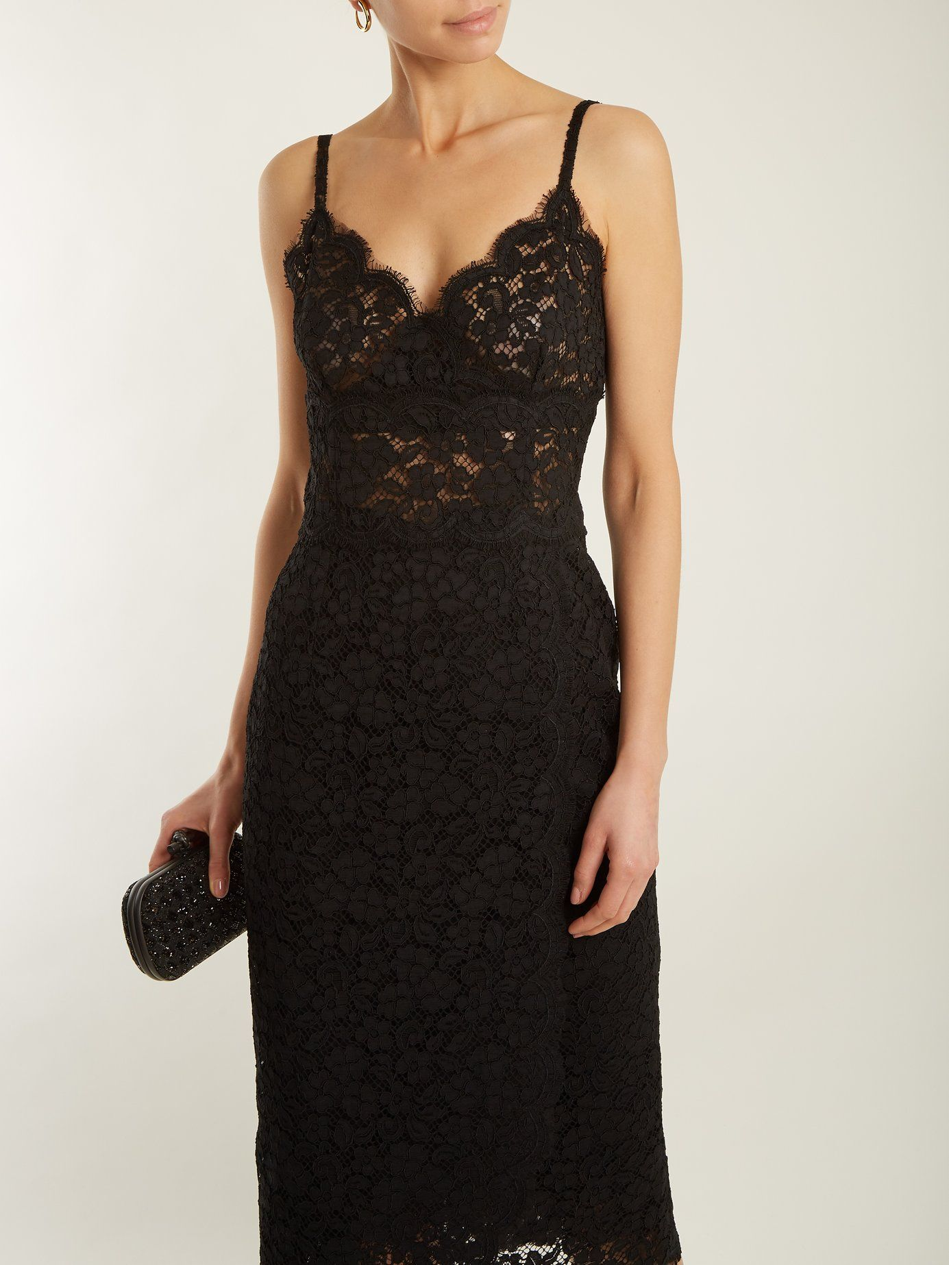 With Paypal For Sale Free Shipping For Cheap Cordonetto-lace scallop-edged dress Dolce & Gabbana 8mB6YHT5