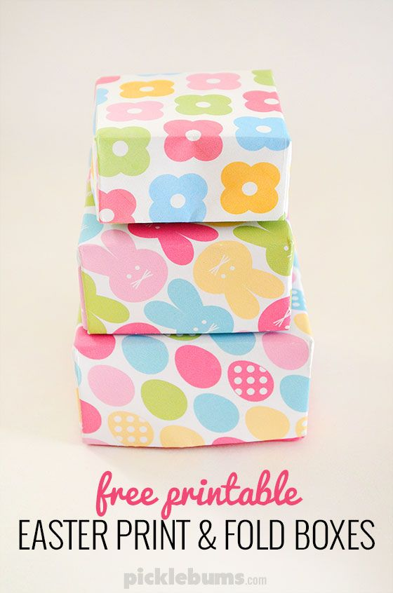 Print and fold easter gift boxes pinterest free printable print and fold easter boxes free printable gift boxes perfect for little easter gifts negle Image collections
