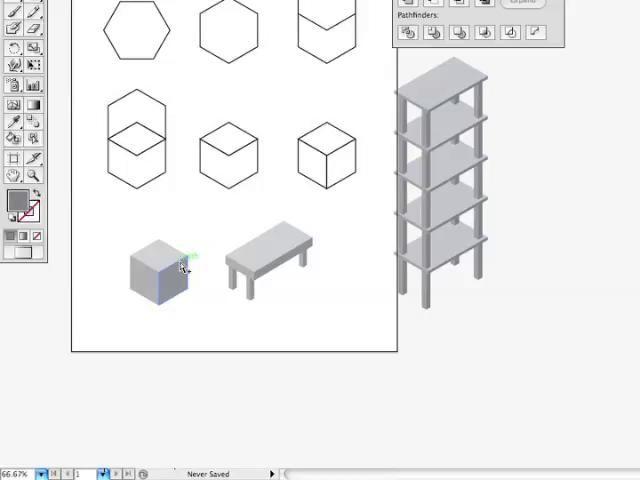 Illustrator CS4 - Isometric cube | Dear Interwebs, Teach me