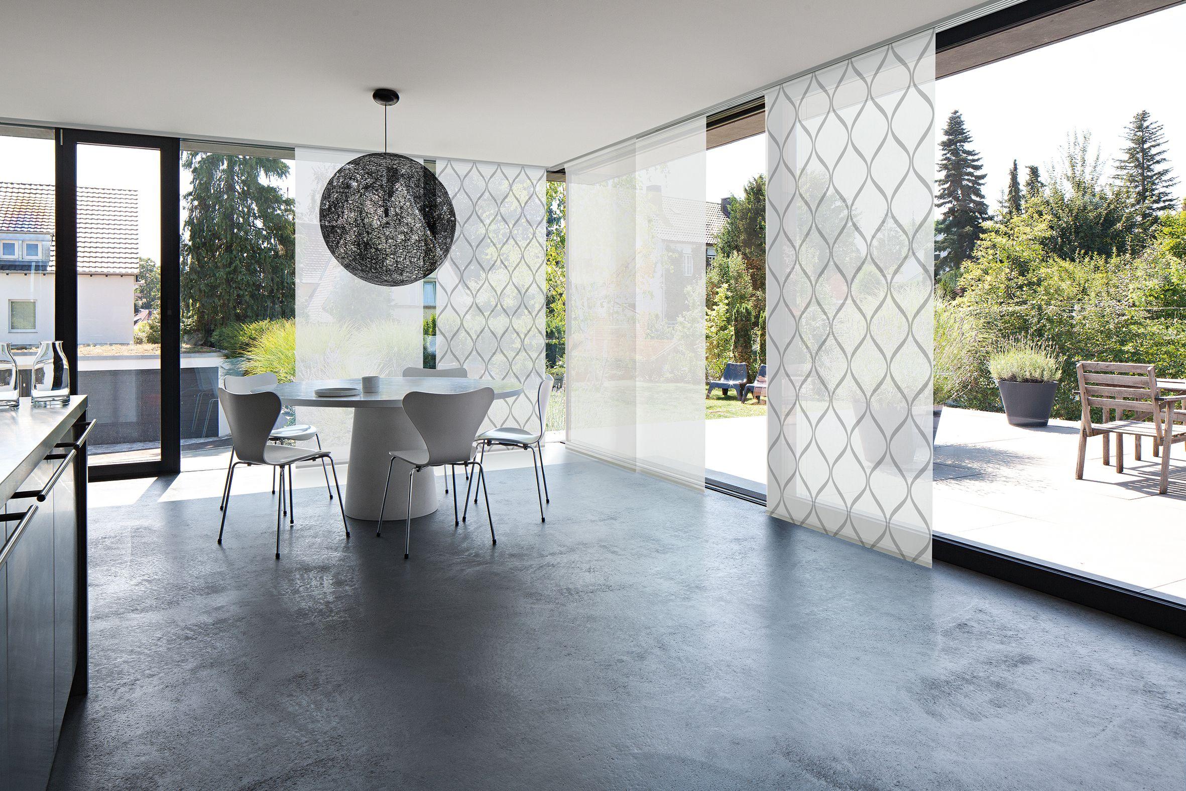 Mhz Flachenvorhang Flachenvorhang Fenstergestaltung Raumteiler Ideen