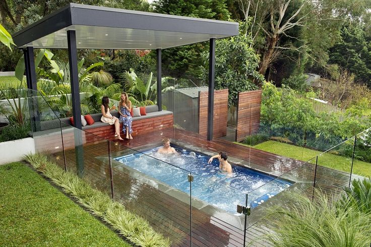 Spa Small Inground Pools Pergola Lanewstalk The