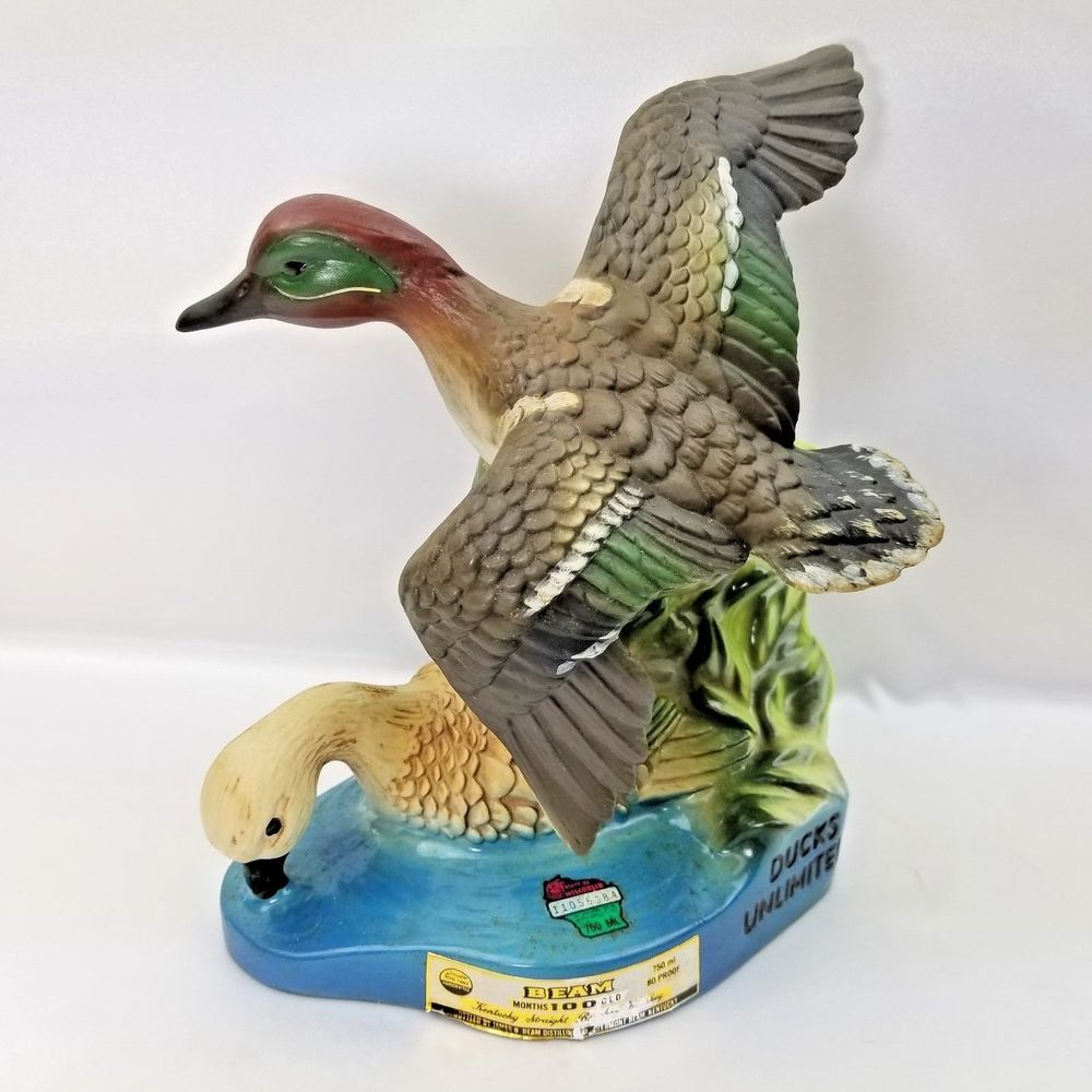 Green Winged Teal Ducks Unlimited Jim Beam Whiskey