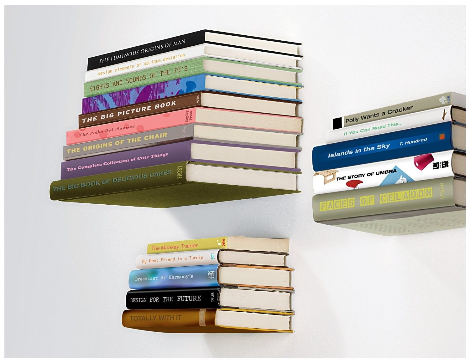 Perfect Umbra Conceal Floating Bookshelf Design