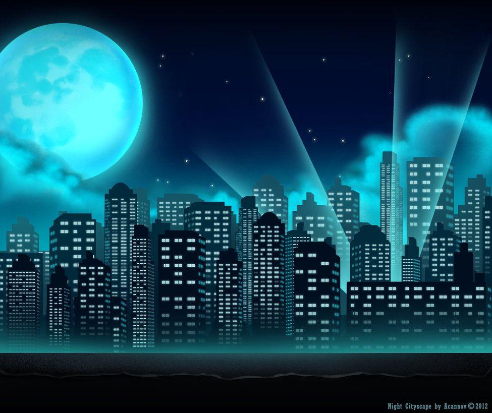Superhero Background, City Backdrop