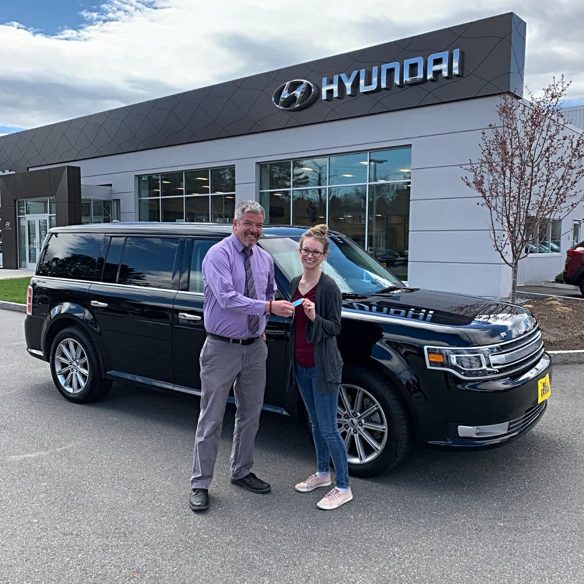 Congrats To Kyley For The Purchase Of This Beautiful Pre Owned 2018 Ford Flex Seth Spencer And The Rest Of The Team Had A Blast Wor Ford Flex Hyundai Ford