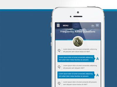 Mobile Faq Page Design