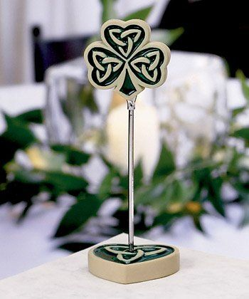 This Site Is Okay A Few Things That Aren T Bad Like These Place Card Holders Favors With Images Irish Wedding Decorations Irish Wedding Irish Wedding Cake