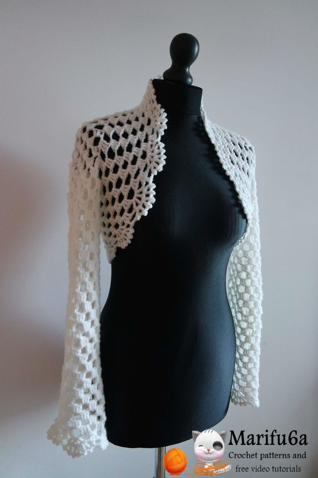 "Crochet pattern ""bridal easy bolero"" by marifu6a Skill Level: Easy ..."