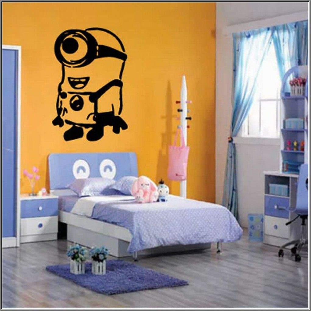 Yellow Paint Minion Bedroom Wallpaper For Cheerful
