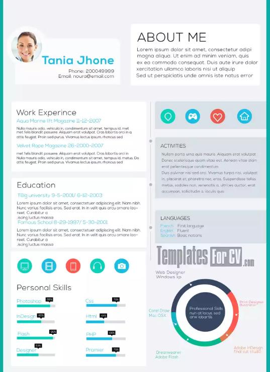Modern CV / Resume | trip | Pinterest