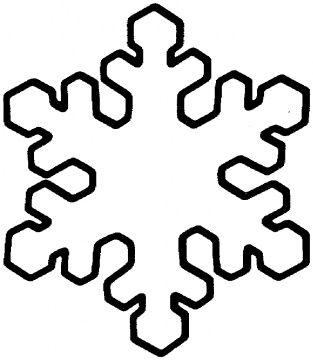 Dibujo De Copo De Nieve Navidad Pinterest Snowflake Template