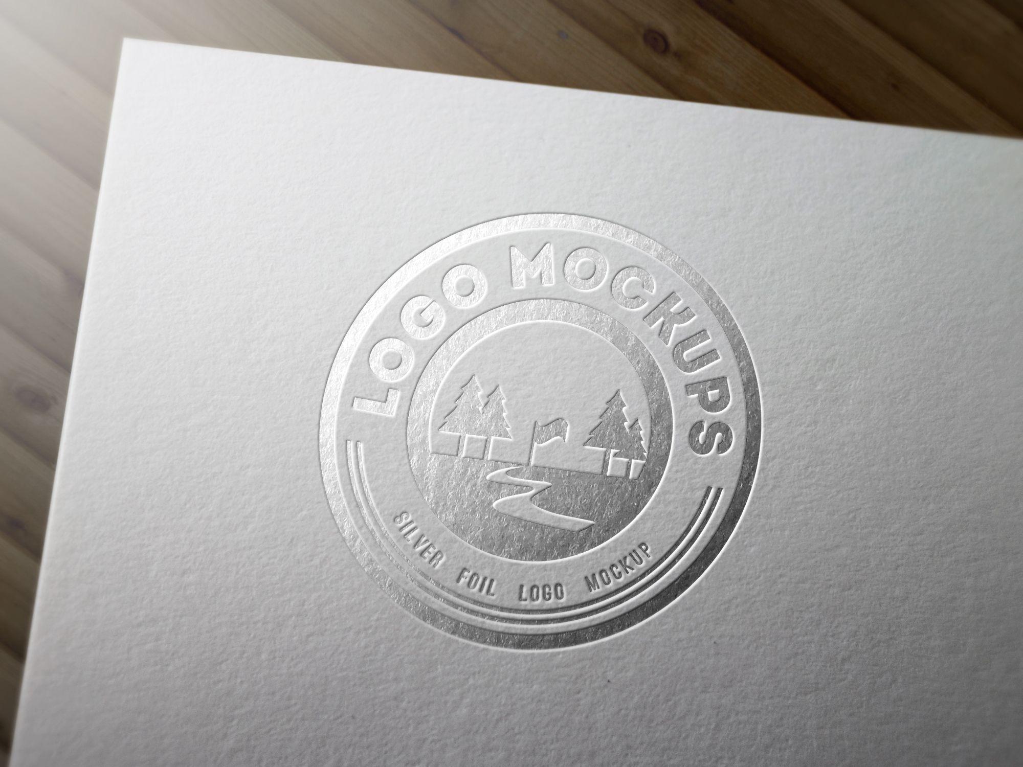 Free Silver Foil Logo Mockup, #Display, #Free, #Graphic #Design, #Logo,
