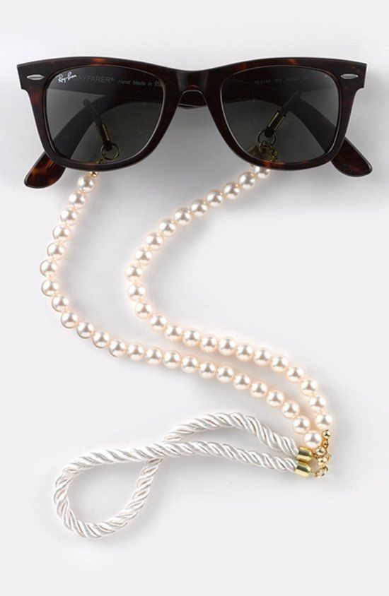 Simply awesome - preppy croakies with pearls for days