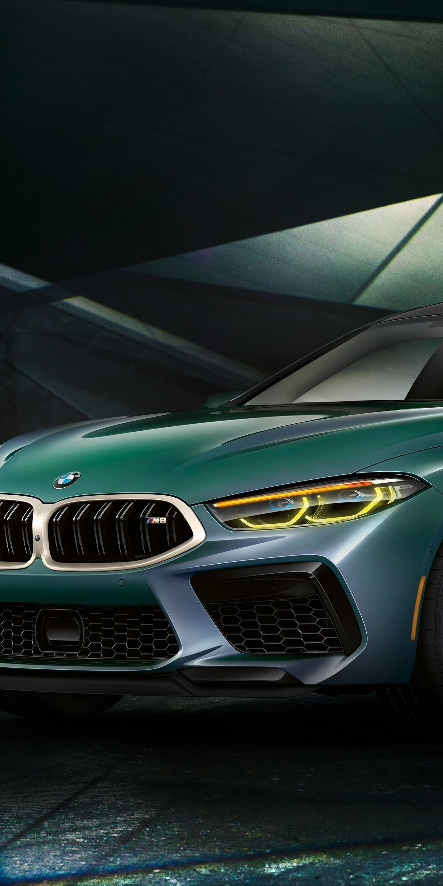 1440x2880 2020 Car Bmw M8 Gran Coupe First Edition Green Car