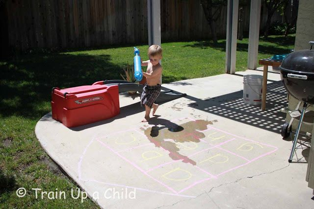 Train Up a Child: Letter Sounds and Sight Word Spray (spray the letter or sight word after identifying it)