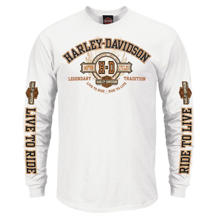Harley Davidson Long Sleeve Shirts Google Search Long Sleeve Tshirt Men Mens Tops Long Sleeve Shirts