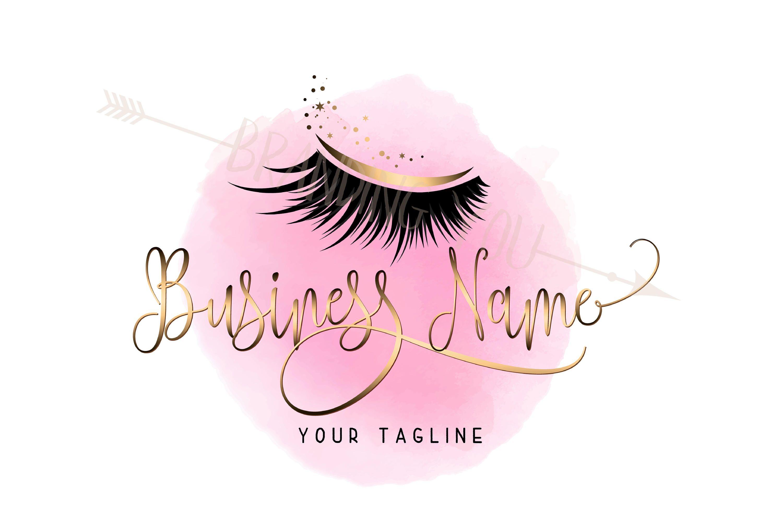 Custom logo, lashes logo, eyelash logo, cosmetics logo