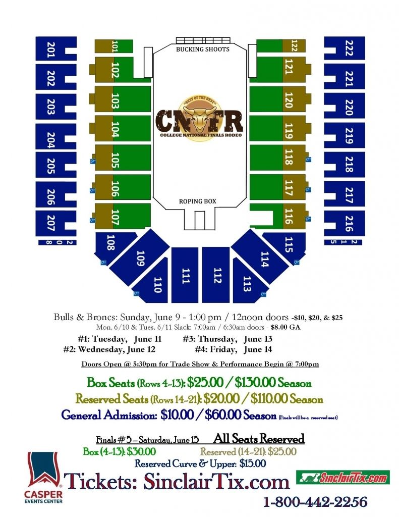 College National Finals Rodeo Casper Events Center Pertaining To
