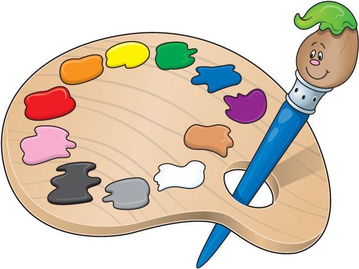 Elementary School Clip Art | paint-palette-clip-art | Paletas de ...