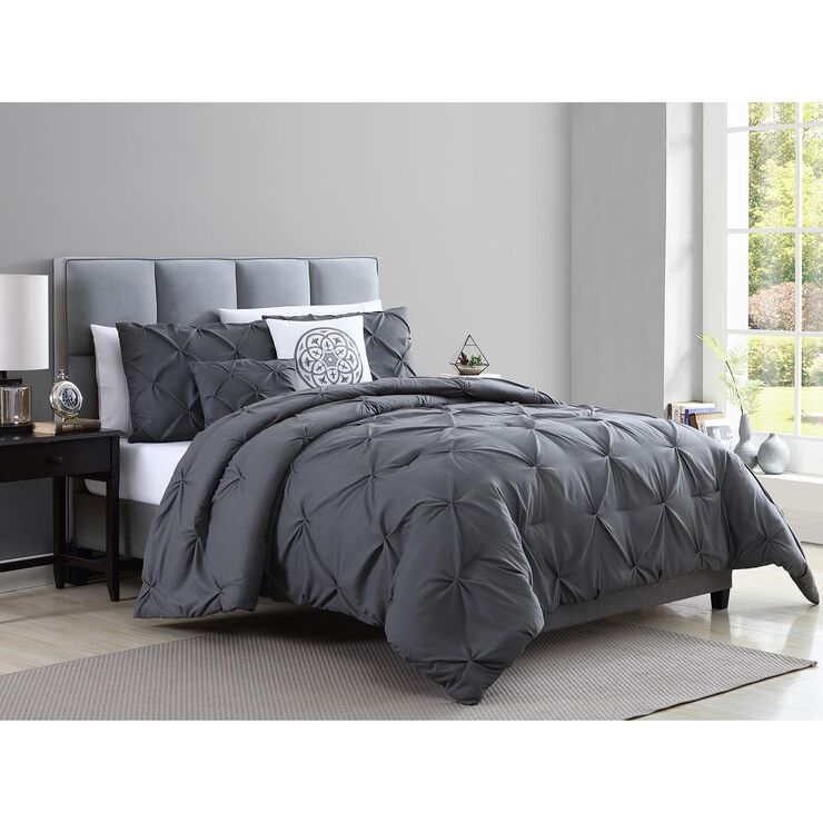 blanca grey 5pc queen comforter set