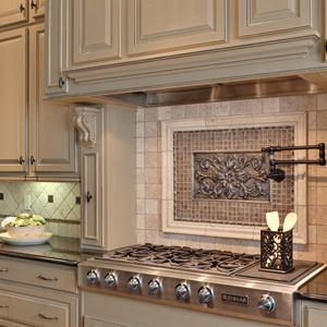 Framed Backsplash Over Stove For The Home Home Decor