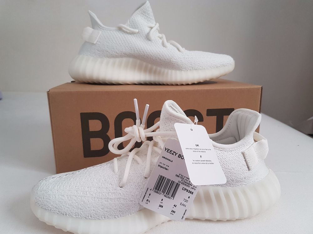 dc6ab60d9dc9f Adidas Yeezy Boost 350 V2 White CP9366 Size UK 8 US 8.5