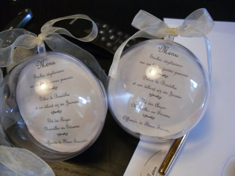 boule transparente menu mariage recherche google d co mariage pinterest boule. Black Bedroom Furniture Sets. Home Design Ideas