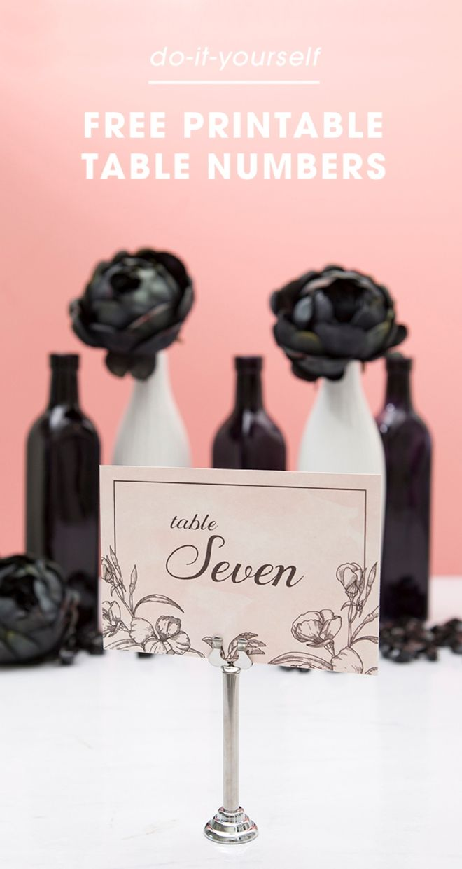 Check Out This Chic, Floral Table Numbers That You Can Print For ...