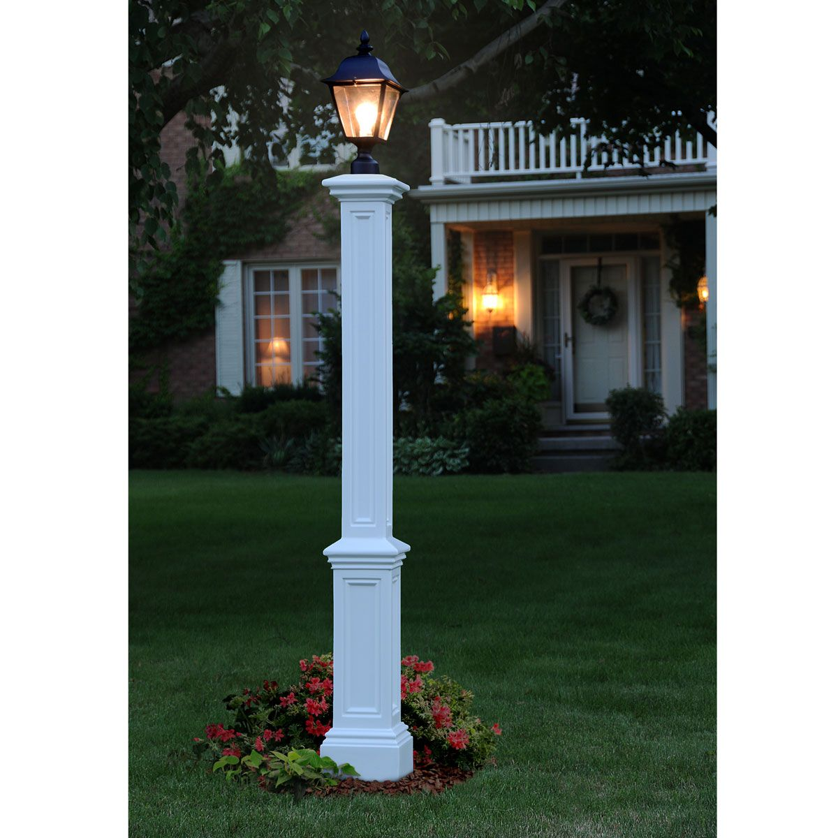 9 1 2 Inch W X 9 1 2 Inch D X 72 Inch H Signature Lamp Post Post Mount Outdoor Lamp Posts Lantern Post Outdoor Lighting