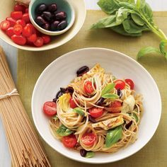 Vibrant, bold flavors await in this healthier pasta dish inspired by the unmistakable tastes of the Mediterranean.