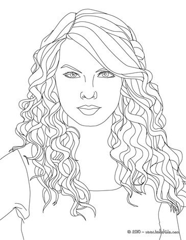 Taylor Swift cat's eyes coloring page | People coloring ...