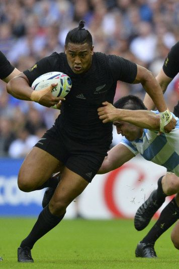 All Black wing Julian Savea – affectionally nicknamed 'the bus' – sites fellow Kiwi Jonah Lomu as his rugby hero, which may explain that distracting tuft of hair. Picture: Getty