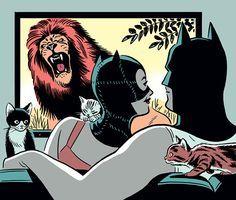 Catwoman and Batman by R. Kikuo Johnson