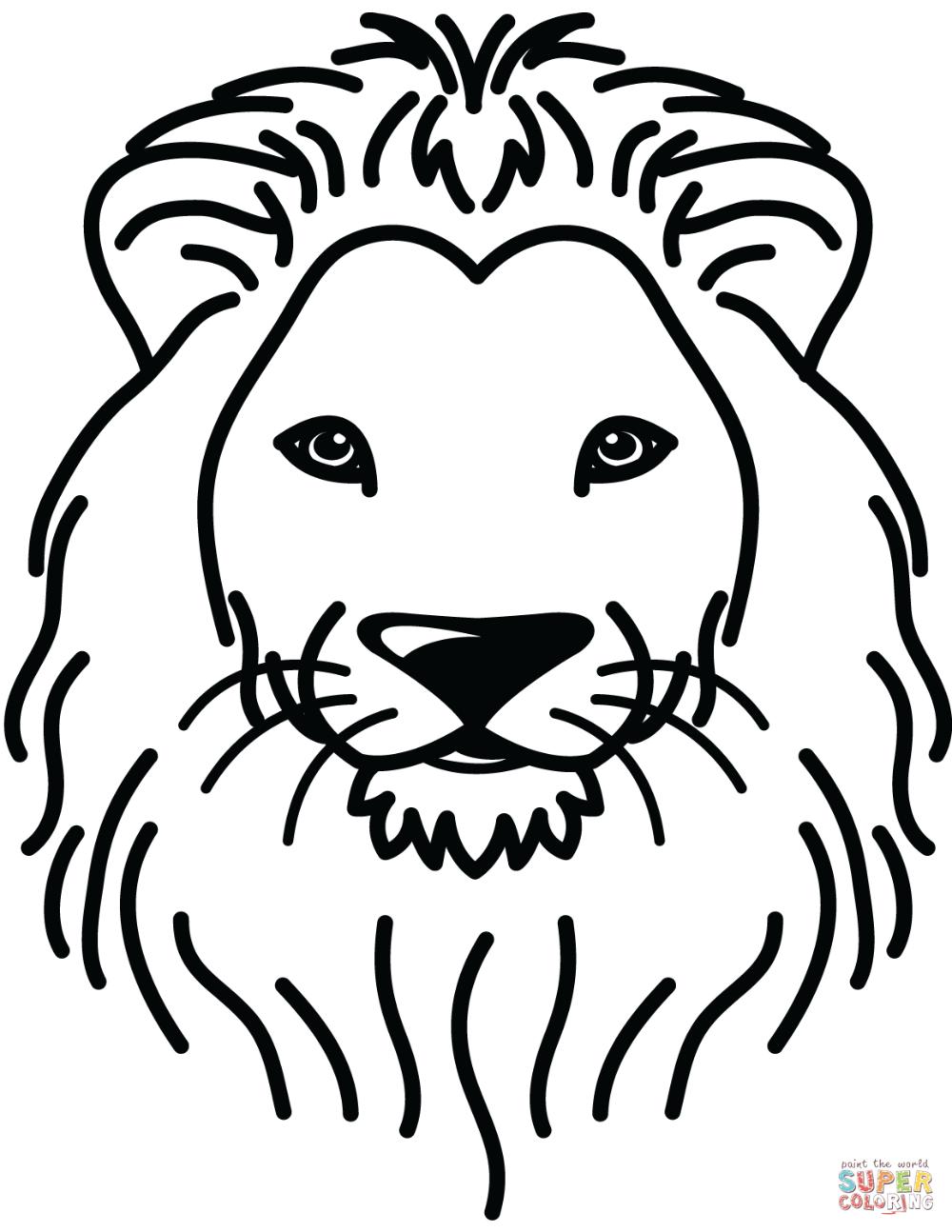 Lion Portrait Coloring Page Free Printable Coloring Pages In 2021 Lion Coloring Pages Animal Coloring Pages Cartoon Lion
