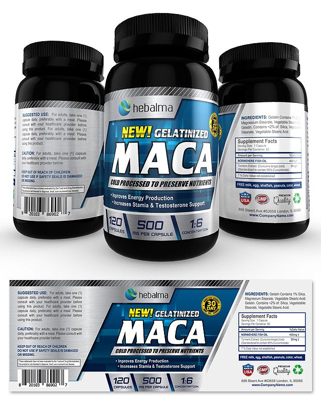 Maca Root Supplement Label Template    wwwdlayouts - product label template