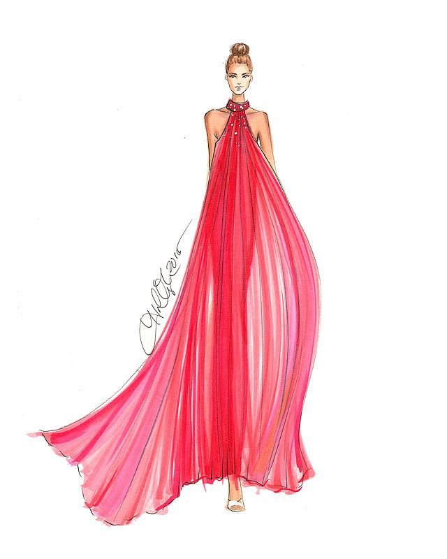 Illustrations fashion illustrations pinterest - Kleider zeichnen ...