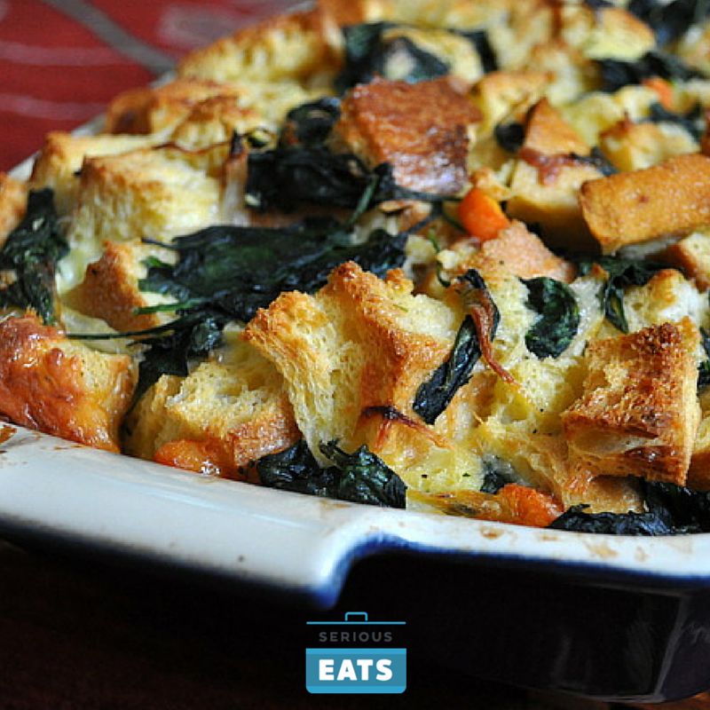 Irish Cheddar and Vegetable Bread Pudding | Recipe | Food ...