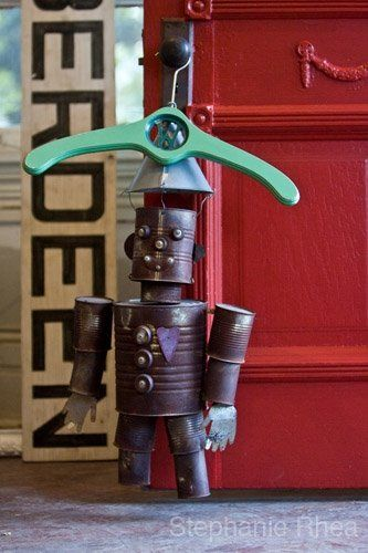 """One of my Favorite things! Vintage """"Tin Man"""" Nothing makes a room more inviting than decor with a sense of humor"""