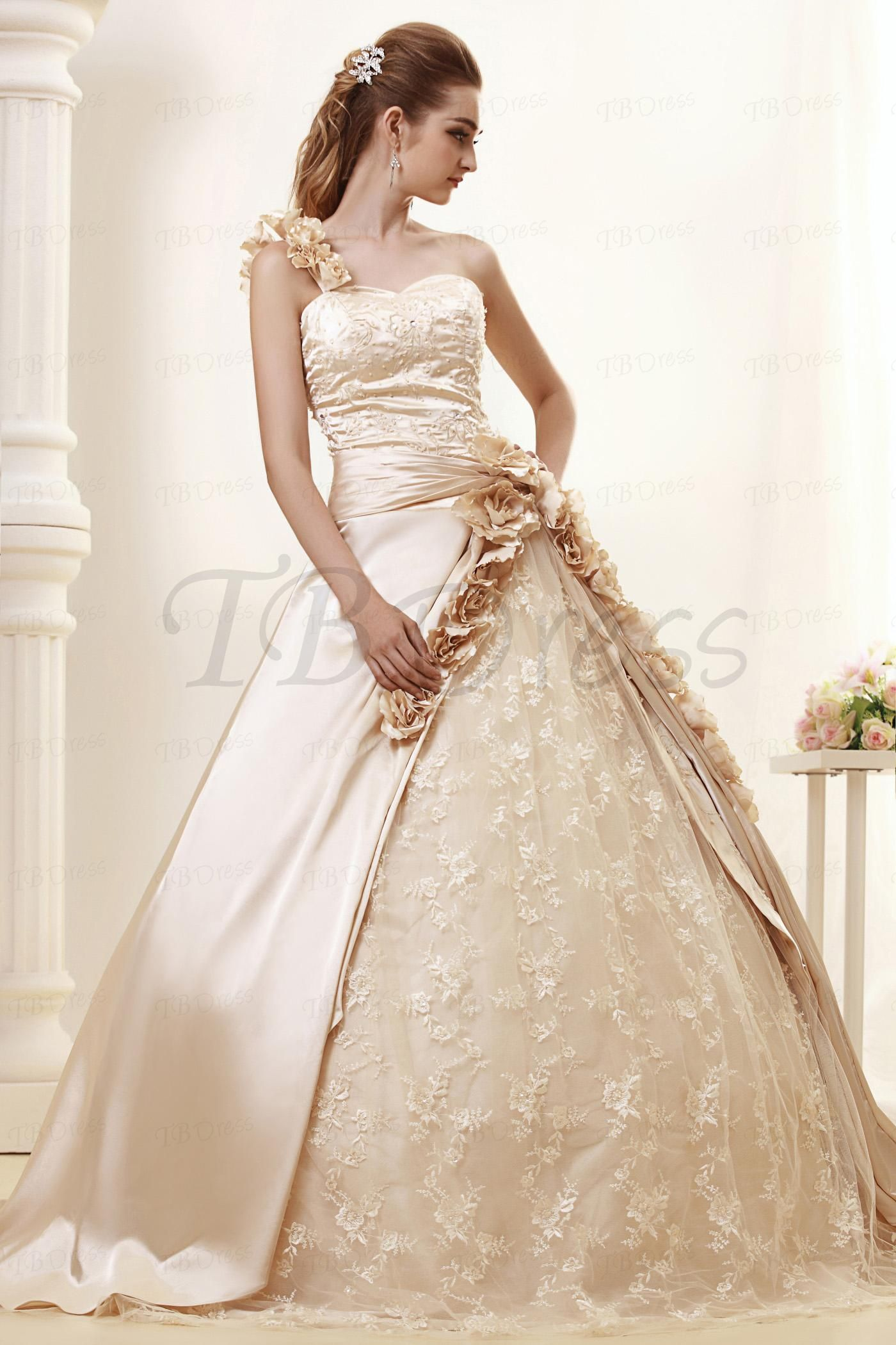 b782cb11095 One-shoulder Ball Gown Royal Angerlika s Wedding Dress