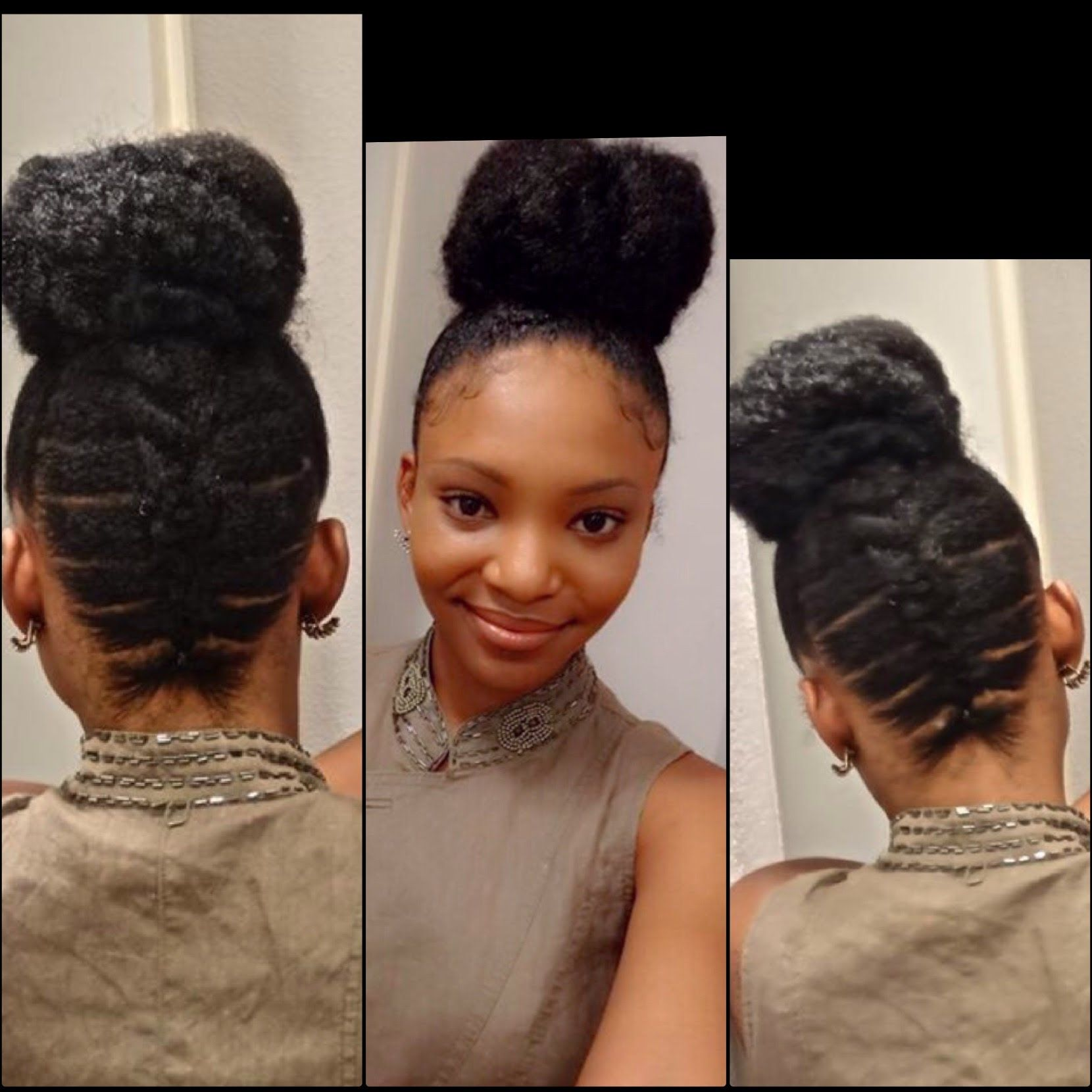 Elastic Cornrows Natural Hair Updo Hair Styles Natural Hair Styles