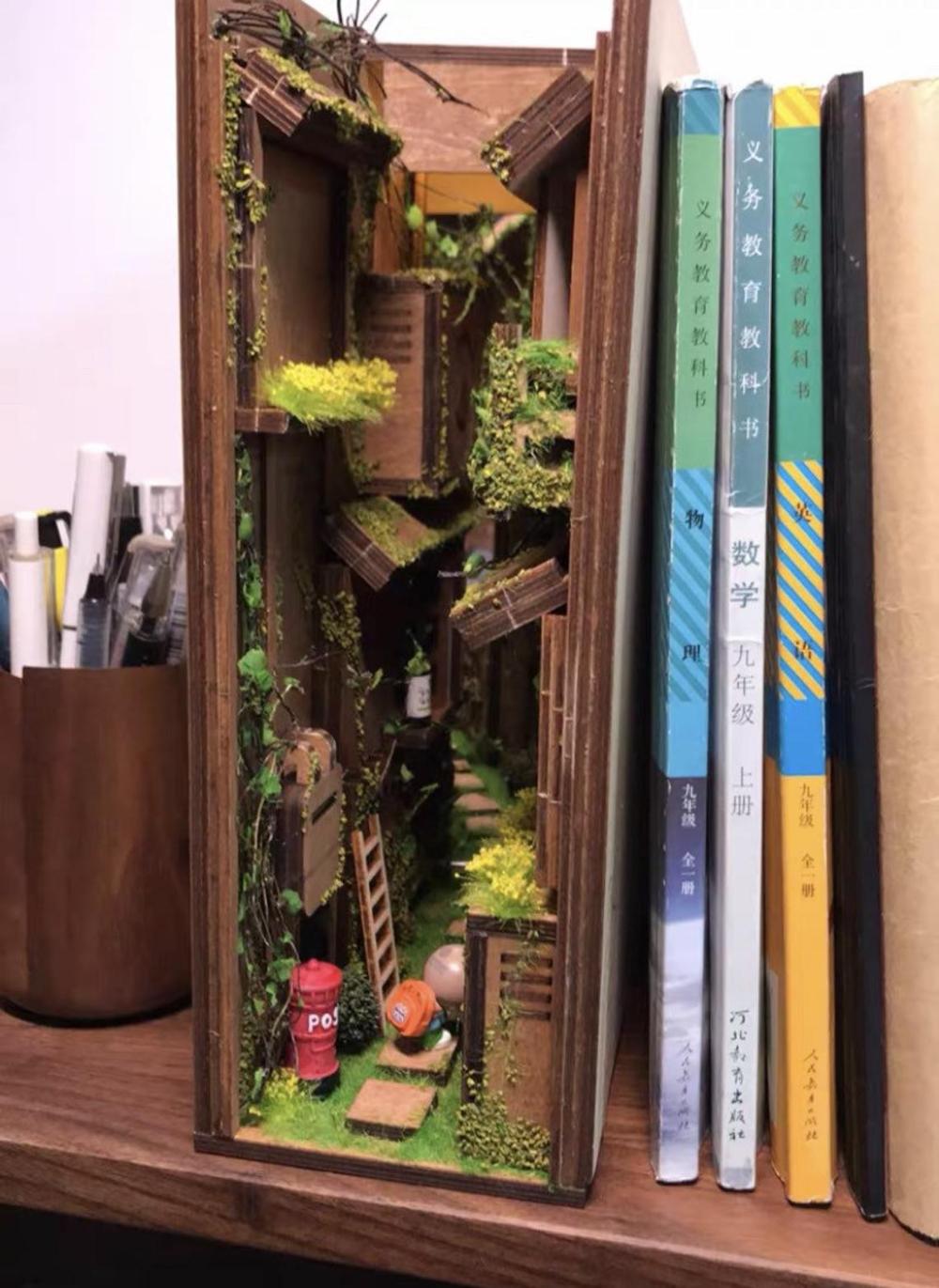 Japanese Alley Book Nook Book Shelf Insert Bookcase With Etsy Book Nooks Bookshelf Art Diy Book