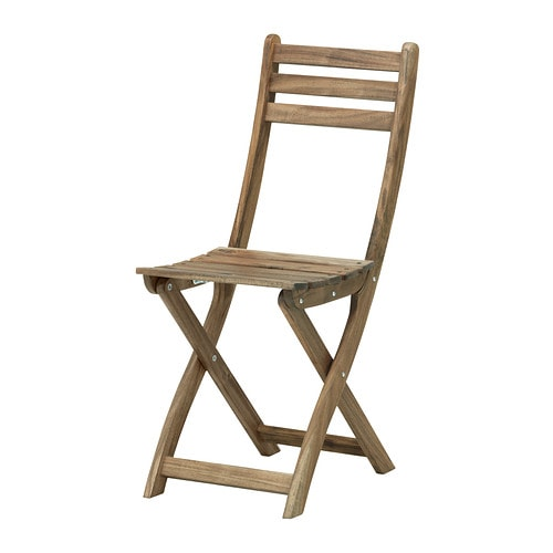 Askholmen Stuhl Aussen Graubraun Faltbar Graubraun Lasiert