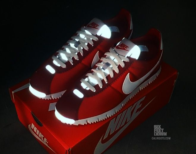 the latest 0ddf5 a6e09 Nike Cortez NM QS in Chilling Red reflective